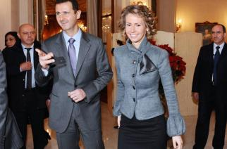 Syrian President Bashar al-Assad and his wife Asma during their official visit to France, 2010