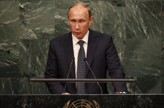 Vladimir Putin addresses United Nations General Assembly. Photo: REUTERS/ Mike Segar
