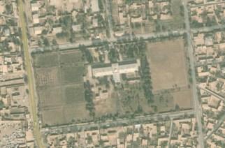 Aerial image of MSF's hospital in Kunduz, northern Afghanistan