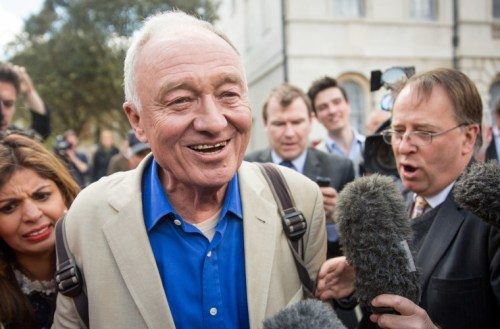 Ken Livingstone speaks to reporters as he leaves Milbank Studios on April 28 (Photo by Rob Stothard/Getty Images)
