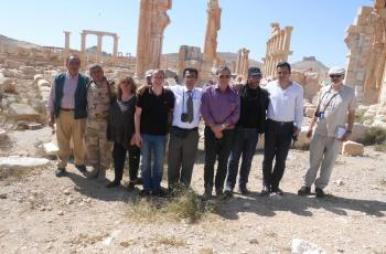 Eva was amongst the first civilians to enter the ancient city of Palmyra 17th April 2016