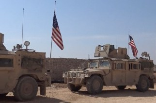 Hundreds of US marines deployed to Syria filmed on the move ahead of Raqqa operation (Image: © Ruptly)