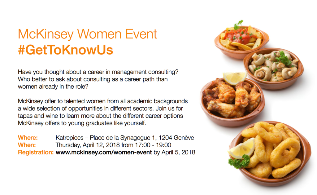 "BSNL recommends: ""McKinsey Women Event"""