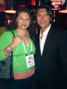 With Lou Diamond Phillips