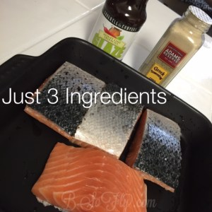 Three main ingredients: 1. Fresh Salmon 2. Adams Reserve 3. Greek Seasoning Cookwell & Company Honey Lime Siracha Glaze