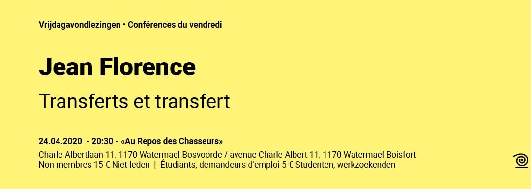 24.04.2020: Jean Florence, Transferts et transfert