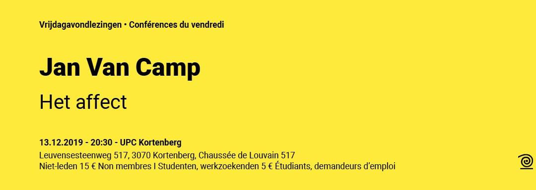 13.12.2019: Jan Van Camp, Het affect