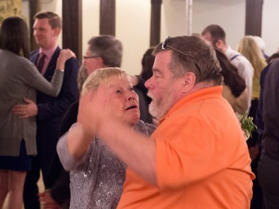 Mother of the Groom dancing with someone I didn't know, but I'm guessing was family of the groom. (I don't know what the expression was about)