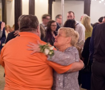 They were cute dancing together, and the groom definitely gets a lot of himself from his mother.