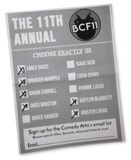 Cropped Ballot Week 2 Comedy Festival IMG_6564
