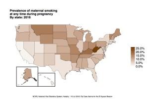 TESTUS National Smoking Pregnant by State