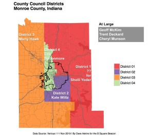 annotated R Map Countywide offices County Council Districtsxxxx