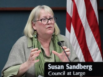 Susan Sandberg, the Bloomington city council's appointee to the city plan commission, explains why she supports the project.