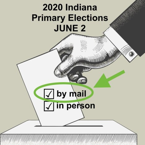 Vote by mail (no-excuse absentee voting) has already been approved as an option for the June 2 primary election in Indiana. On April 22, the state's election commission will meet and possibly consider a mail-only election.