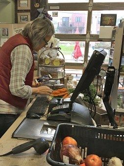 Kathy Sample, owner of Argus Farm Stop in Ann Arbor Michigan in a 2016 photo.