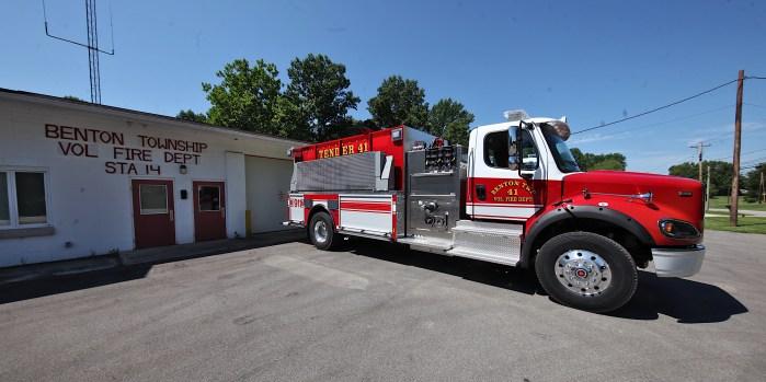 Benton Township's volunteer fire station on SR 45.