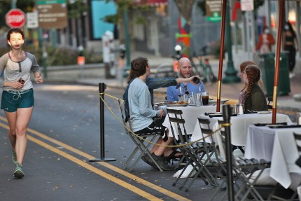 Uptown Cafe outdoor dining on Sept. 26, 2020.