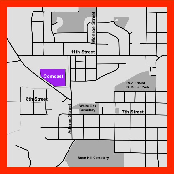 labeled revised inset high res R Map Comcast Rezone YYYxxxx