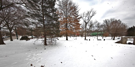 View of Seminary Park from College Avenue on Feb. 14, 2021.