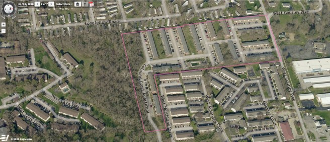 This April 2020 image is from the Pictometry module of Monroe County's online property lookup system.
