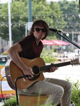 Charlie Jesseph played the first set in the Thursday night concert series at People's Park on July 15, 2021.