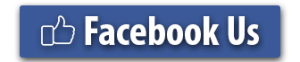 picture of a facebook blue rectangle button with a facebook like icon and the text facebook us for brightside restoration