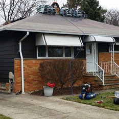 picture of a house with roofing and other general contractor work done to it by brightside restoration in medina ohio