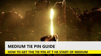how to get the tie pin in medium