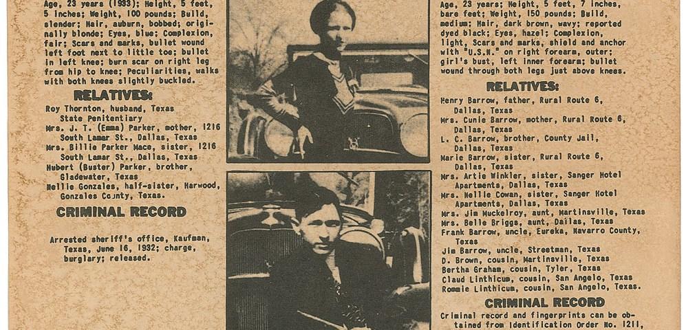 Bonnie und Clyde  Verbrecher auf der Flucht