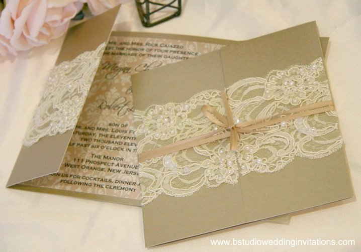 ivory  B Studio Wedding Invitations  Style Blog