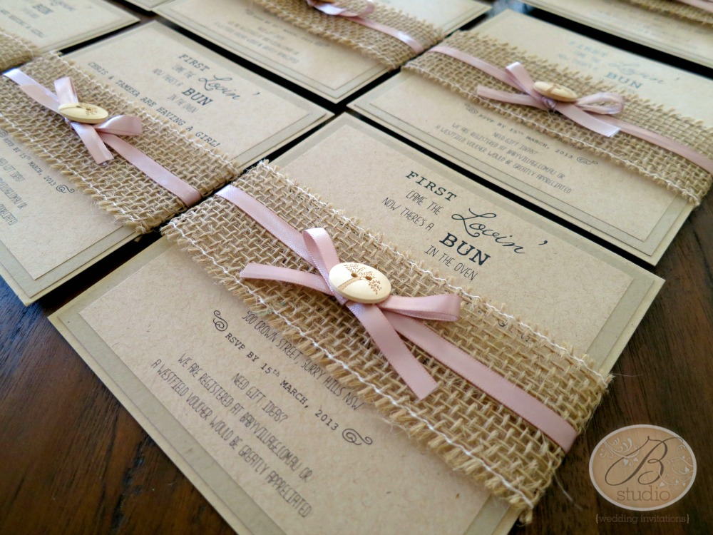 baby shower  B Studio Wedding Invitations  Style Blog