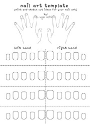 free printable nail art template