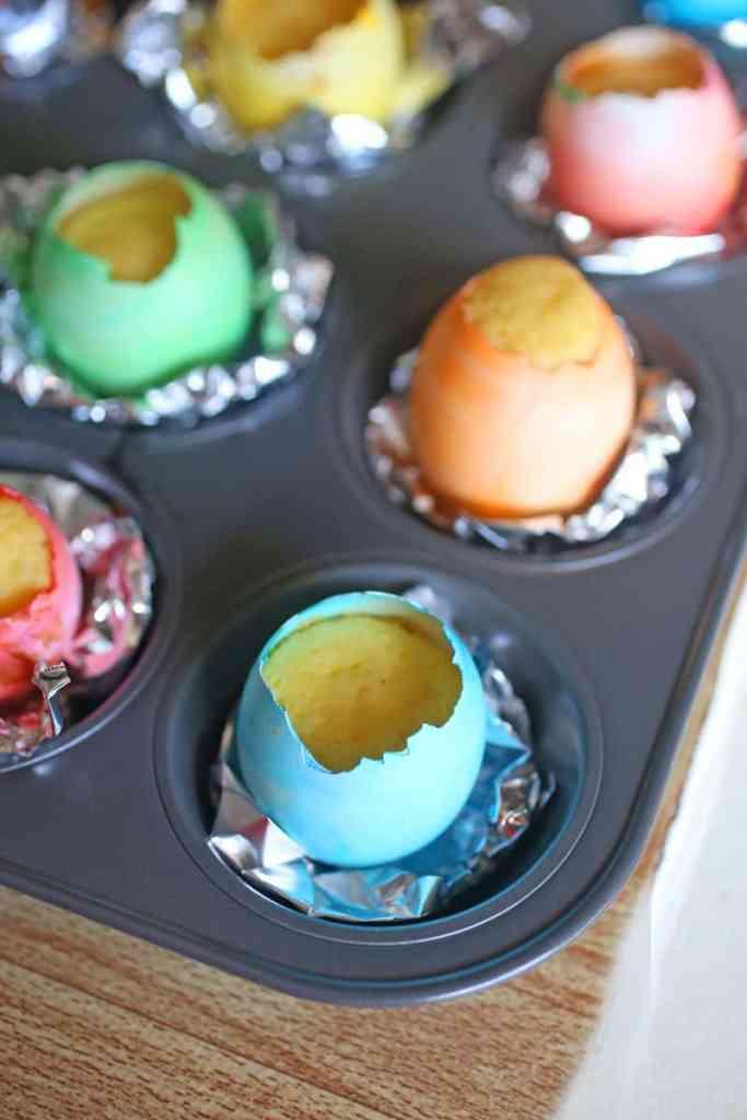 Easter Eggshell Cupcakes