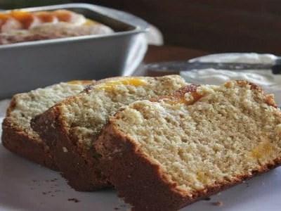 Peach Cobbler Bread