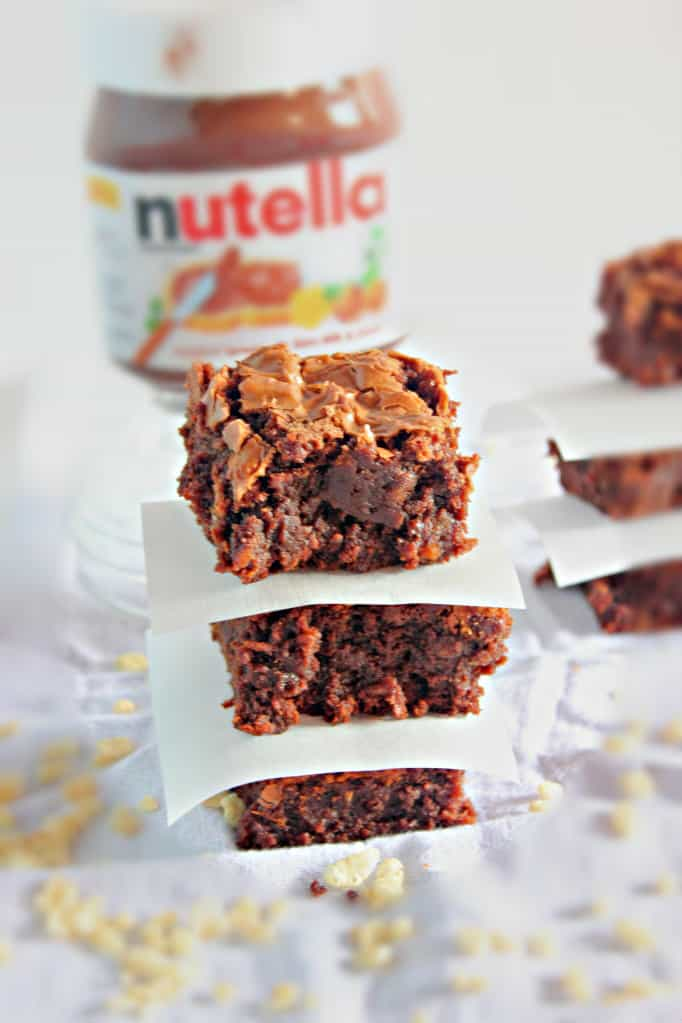 Nutella Crispy Brownies