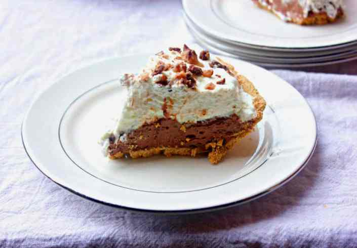 Chocolate Toffee Cream Pie
