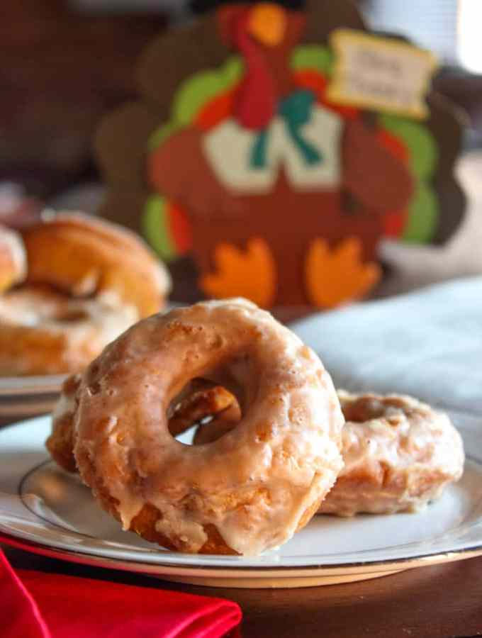 Pumpkin Maple Donuts
