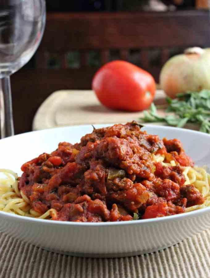 Homemade Spaghetti Meat Sauce Recipe