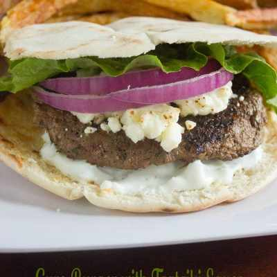 Gyro Burger with Tzatziki Sauce