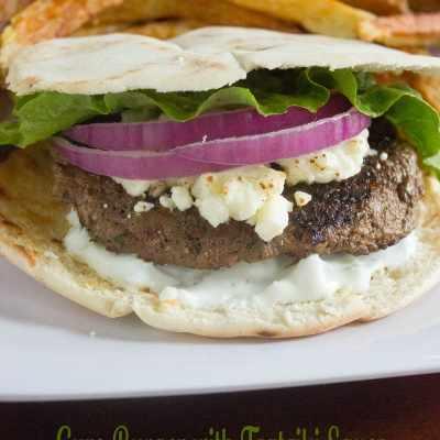 Gyro Burger with Tzatziki Sauce