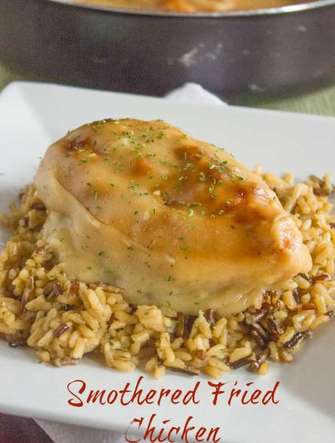 Southern Smothered Fried Chicken