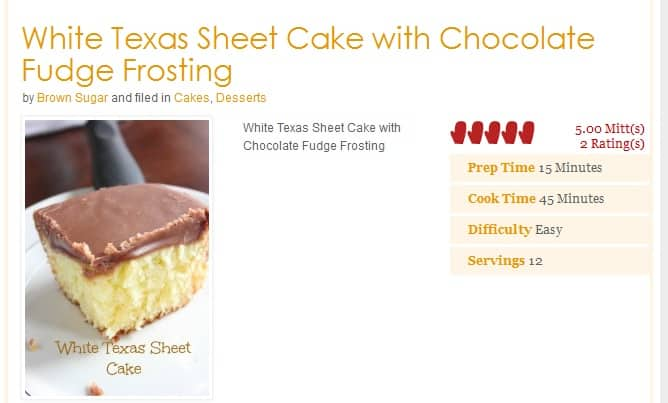 Come Home To Mama Chocolate Cake Recipe: White Texas Sheet Cake With Chocolate Fudge Frosting