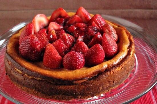 Strawberry Vanilla Bean Cheesecake