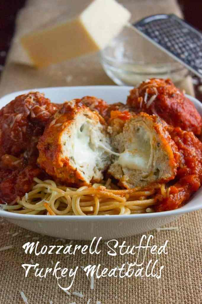 Mozarella Stuffed Turkey Meatballss