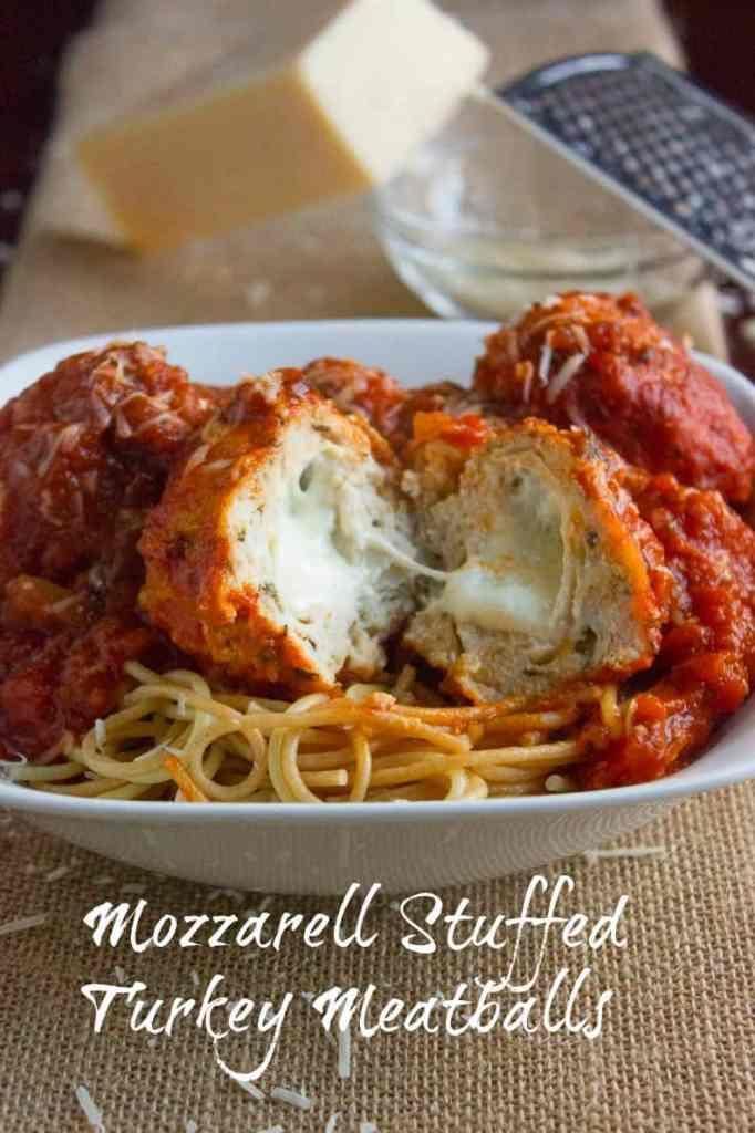 Mozarella Stuffed Turkey Meatballss