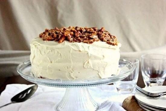 Pecan Praline Cake Brown Sugar Food Blog