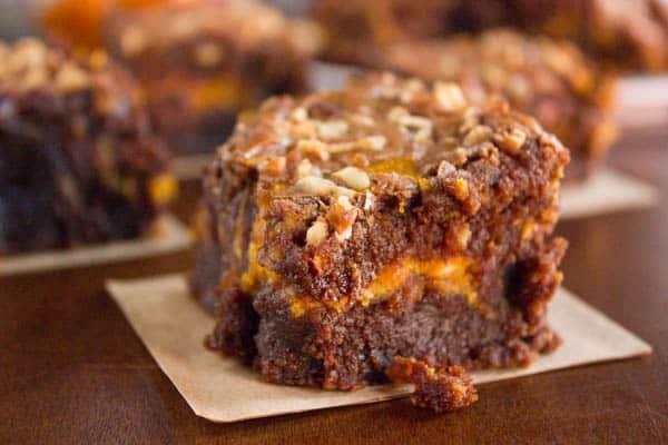 Nutella Pumpkin Brownies