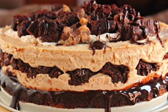 Peanut Butter & Brownie Cheesecake