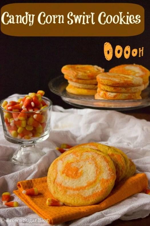 Candy Corn Swirl Cookies