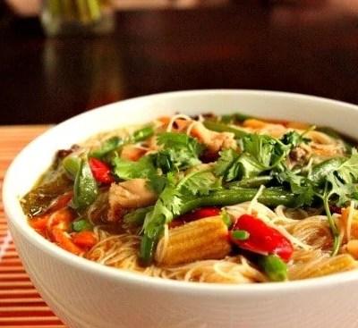 Stir Fry Asian Chicken Soup
